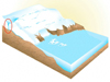 Greenland glacier animation